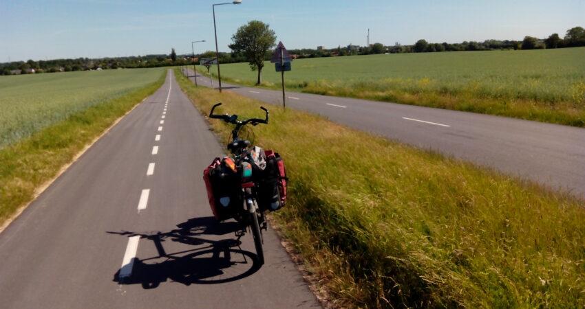 Ein Radweg in Dänemark