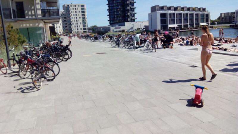 Badeszene in Vorort von Kopenhagen