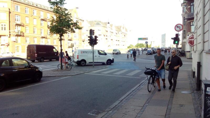 Kopenhagen Hauptstraße Radweg