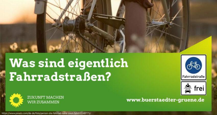 Was sind Fahrradstraßen